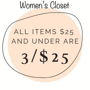 TODAY! WOMENS CLOSET 3/$25 KIDS 4 FOR $25!
